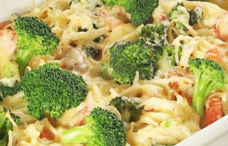 Schinken mit Brokkoli Gratin