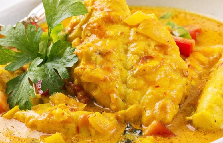 Kabeljau in Currysoße