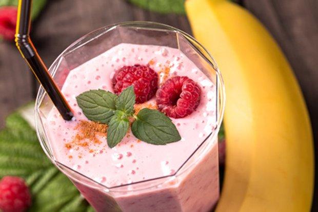 Himbeer-bananen-shake